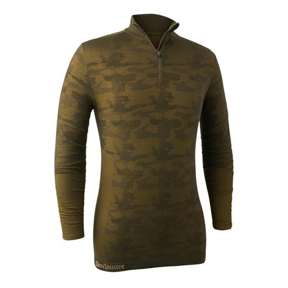 DEERHUNTER Comou Wool Zip Neck - XXL/3XL