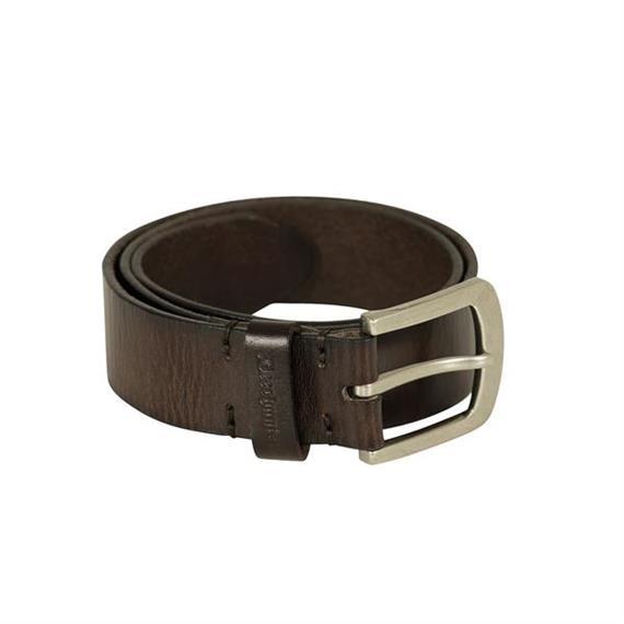 Deerhunter Leder Gürtel, 4 cm breit DH Dark Brown - 95 cm