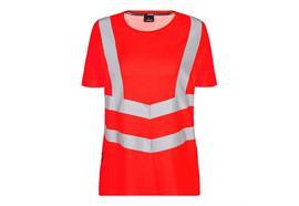 ENGEL Safety Damen kurzarm T-Shirt, rot - Grösse 3XL Übergrösse