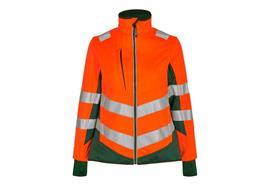 ENGEL Safety Damen Softshelljacke, orange/grün - Grösse XS