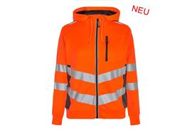 ENGEL Safety Damen Sweatcardigan, orange/grau - Grösse 3XL Übergrösse