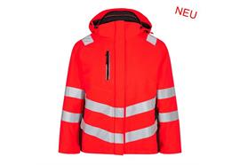 ENGEL Safety Damen Winterjacke rot/schwarz