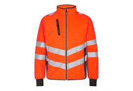 ENGEL Safety Fleecejacke, orange/grau - Grösse M