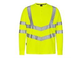 ENGEL Safety Grandad Langarm-Shirt, gelb - Grösse 3XL Übergrösse