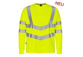 ENGEL Safety Grandad Langarm-Shirt gelb - Grösse XL
