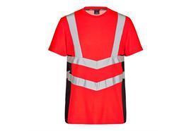 ENGEL Safety Kurzarm Shirt rot/schwarz - Grösse 4XL Übergrösse