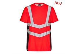 ENGEL Safety Kurzarm Shirt rot/schwarz