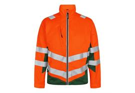 ENGEL Safety light Arbeitsjacke. orange/grün - Grösse 3XL Übergrösse