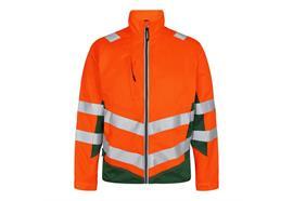 ENGEL Safety light Arbeitsjacke. orange/grün - Grösse XS