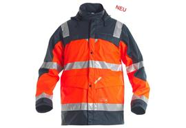 ENGEL Safety Regenjacke EN ISO 20471 Orange/Blau