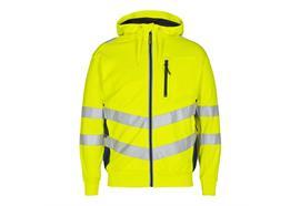 ENGEL Safety Sweatcardigan, gelb/blau - Grösse 4XL Übergrösse