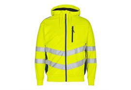 ENGEL Safety Sweatcardigan, gelb/blau - Grösse 5XL Übergrösse