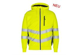 ENGEL Safety Sweatcardigan gelb/blau - Grösse M