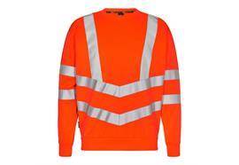 ENGEL Safety Sweatshirt, orange - Grösse 4XL Übergrösse