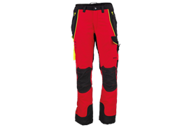 FENNOTEX Tapio Expert Schnittschutzhose rot/schwarz, Normalgrösse - Grösse XS