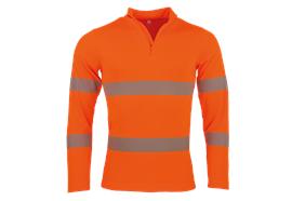 Fennotex Warnschutz Coolmax Langarmshirt, EN ISO 20471, orange