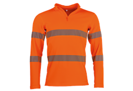 Fennotex Warnschutz Thermoshirt, EN ISO 20471, orange