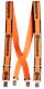 Husqvarna Hosenträger orange, mit Metallclips