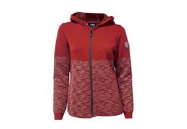 IVANHOE OF SWEDEN AMINA HOOD Damenkapuzenpullover Red Clay