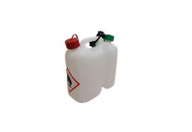Kombi-Kanister Eco ungefüllt, für 5L Benzin / 3L Kettenöl