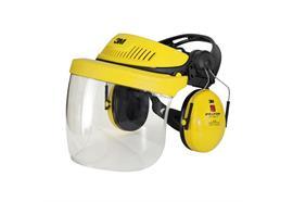 Peltor Gehör- und Gesichtsschutz Kombination G500 mit Klarsichtvisier, gelb