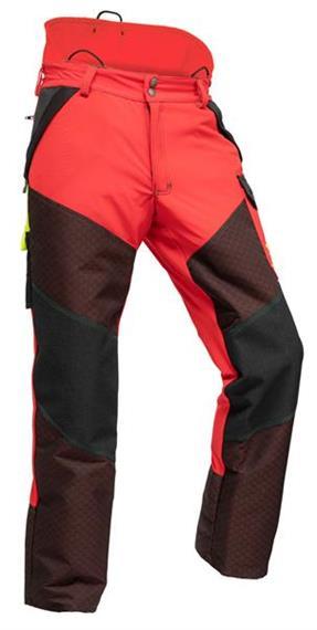 Pfanner Gladiator EXTREM Schnittschutzhose rot, normal - Grösse XS