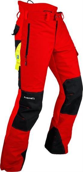 Pfanner GLADIATOR II Schnittschutzhose rot, normal - Grösse XL