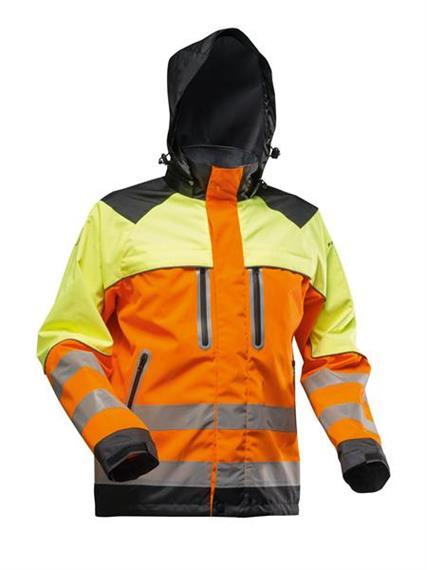 Pfanner NANOSHIELD Regenjacke EN20471 gelb/orange - Grösse S