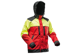 Pfanner NANOSHIELD Regenjacke gelb/rot - Grösse XL