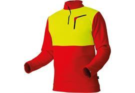 Pfanner Stretch Air HUSKY Shirt rot/neongelb - Grösse 3XL Übergrösse