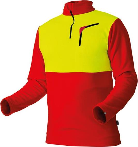 Pfanner Stretch Air HUSKY Shirt rot/neongelb - Grösse XL