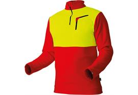 Pfanner Stretch Air HUSKY Shirt rot/neongelb - Grösse XS