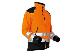Pfanner StretchAir Schnittschutzjacke EN381-11, EN 20471 orange - Grösse XL