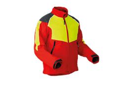 Pfanner StretchAir Schnittschutzjacke EN381-11 rot/gelb - Grösse XL
