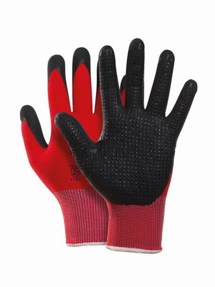 Pfanner STRETCHFLEX FINE GRIP Handschuhe schwarz/rot - Grösse M / 8