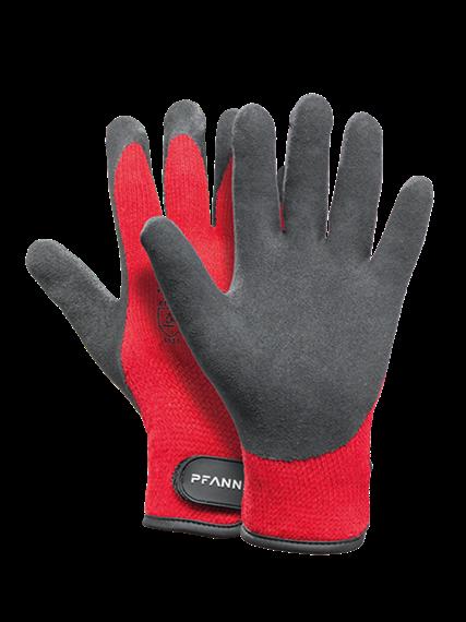 Pfanner STRETCHFLEX ICE GRIP Handschuhe schwarz/rot - Grösse 11/XXL