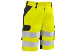Pfanner StretchZone Warnshorts EN 20471, gelb