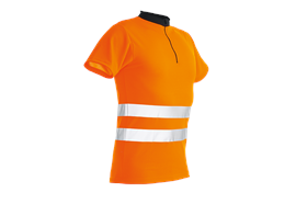 Pfanner ZIPP-NECK Shirt kurzarm EN 20471 orange - Grösse 3XL Übergrösse