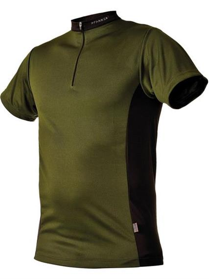 Pfanner ZIPP-NECK Shirt kurzarm waldgrün - Grösse XS