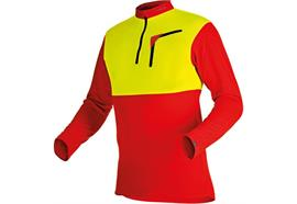 Pfanner ZIPP-NECK Shirt langarm gelb/rot