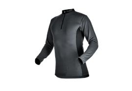 Pfanner ZIPP-NECK Shirt langarm grau - Grösse 3XL