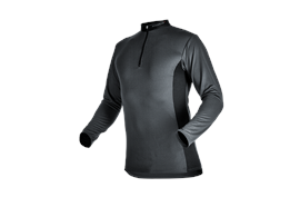 Pfanner ZIPP-NECK Shirt langarm grau - Grösse XL