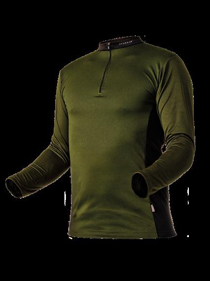Pfanner ZIPP-NECK Shirt langarm waldgrün - Grösse 3XL Übergrösse