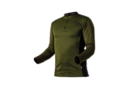 Pfanner ZIPP-NECK Shirt langarm waldgrün - Grösse XL