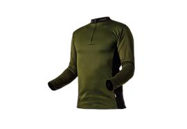 Pfanner ZIPP-NECK Shirt langarm waldgrün - Grösse XS