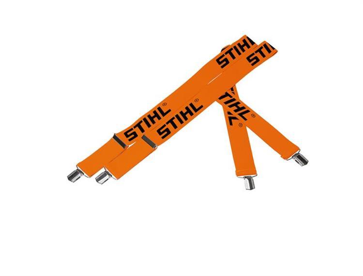 Stihl Hosenträger orange, mit Klips, Länge 130 cm