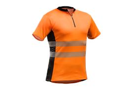 Tencel™-Poly Zipp-Neck Shirt, EN 20471 orange
