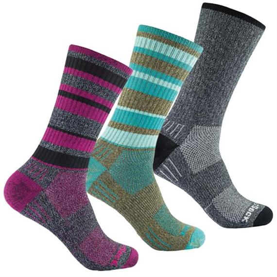 WRIGHTSOCK Adventure crew black/white - XL (45.5-49)